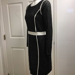 Calvin Klein Dresses - Calvin Klein black and white Knit dress size S